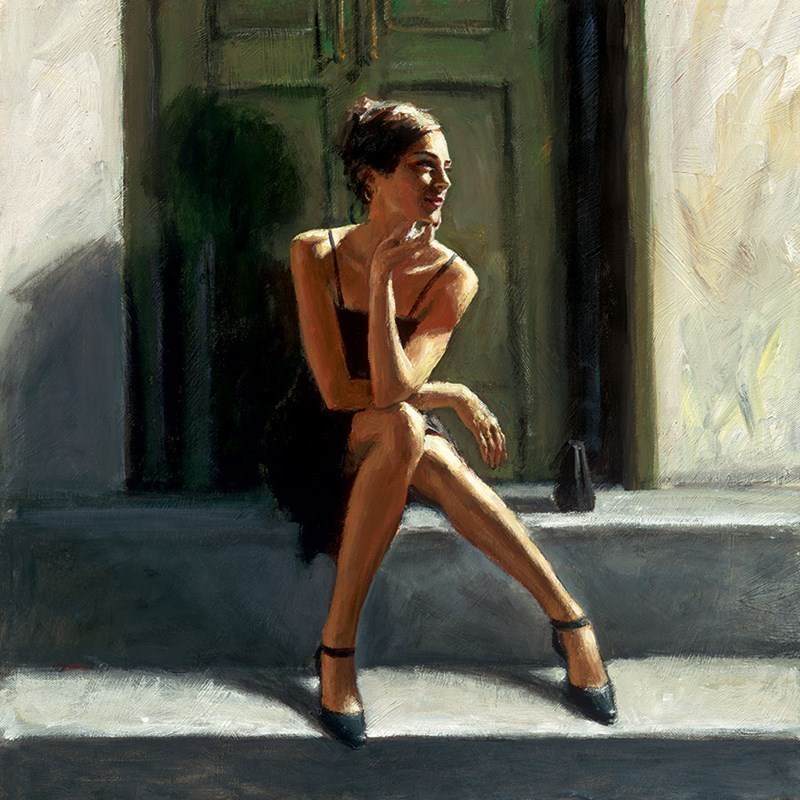 Image: Waiting for the Romance to Come Back - Lucy by Fabian Perez | Limited Edition on Canvas